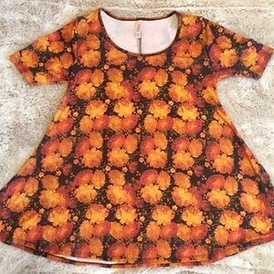 Women's LuLaRoe Floral Perfect Tee, Size Xs